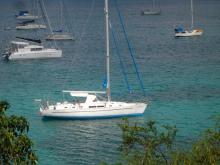 Bénéteau Oceanis 44 CC: At anchor in Martinique